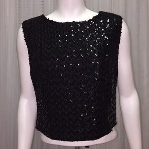 Camilla Tops - Camilla Black Sequin Top Size 36""